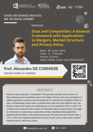 Prof. Alexandre DE CORNIERE, Toulouse School of   Economics 