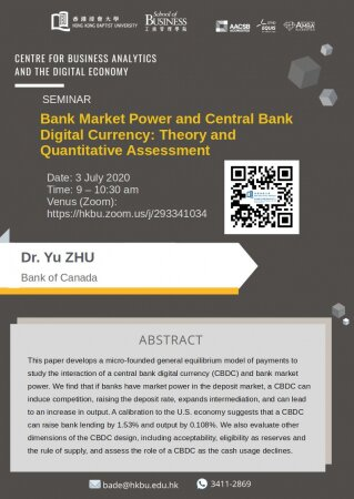 Dr. Yu ZHU, Bank of Canada 