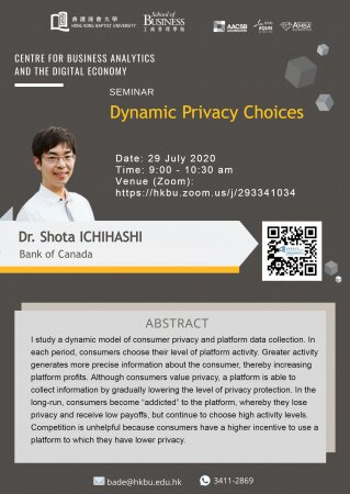 Dr. Shota ICHIHASHI, Bank of Canada